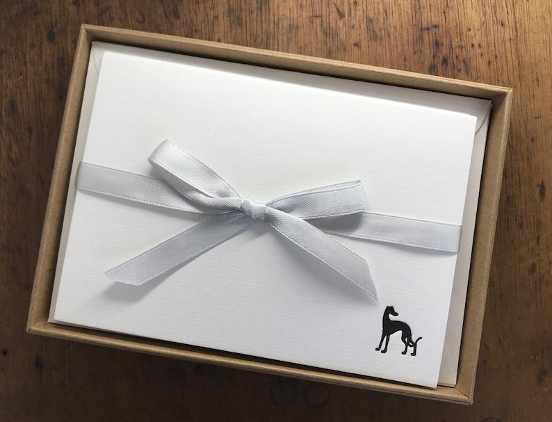 Whippet / Greyhound stationery  letterpress printed image 0