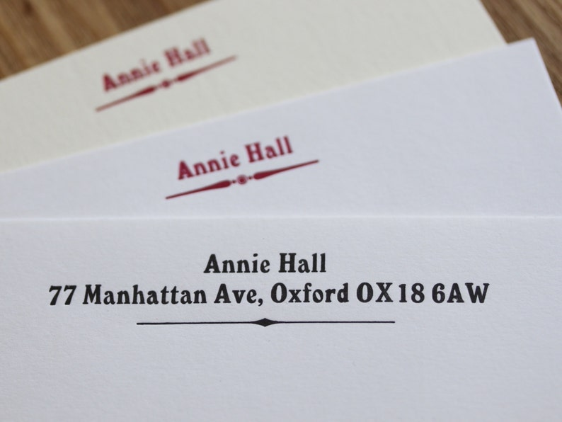 Personalised stationery set  letterpress printed writing image 0