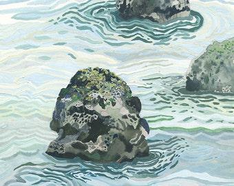 Sea - Original painting
