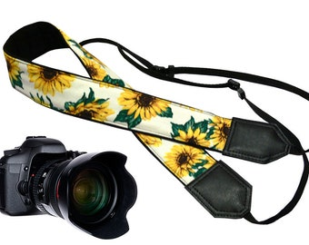 Sunflower Camera strap designed for flower lovers suitable for all professional and normal camera users.