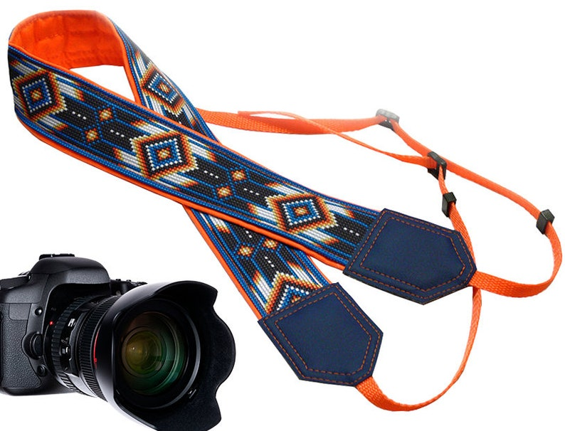 Camera strap inspired by Native American.  Southwestern Ethnic image 0