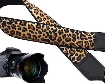 Personalized camera strap. Comfy and durable strap. Leopard Jaguar print camera strap for wild animal lovers. Best gift
