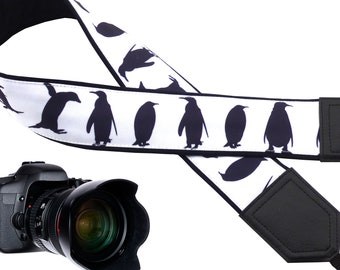 Amazing penguin camera strap available for all professional and normal camera users.