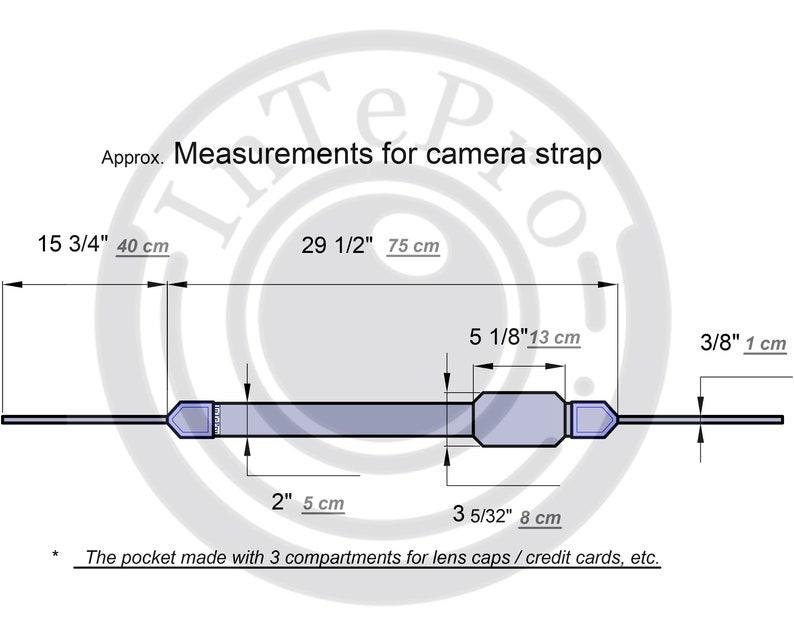 Ocean camera strap Photographer gift. Camera Strap with pocket Sea camera strap Camera accessories Mermaid Camera Strap