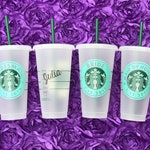 Starbucks Reusable Cold Cup Venti / Bridesmaid Gift / Unique Personalized Gift / Bridesmaid Proposal / Teacher Gifts / Christmas Gift / I Do