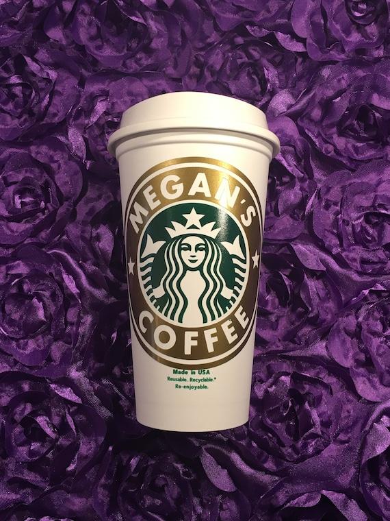 Personalized Starbucks Cup Travel Mug Birthday Gift