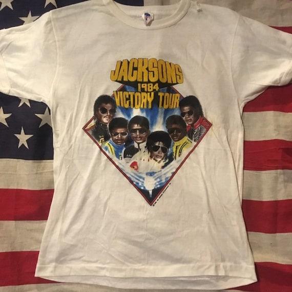 vintage Jacksons Five 1984 victory tour
