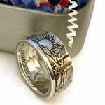 1916-1947 90% Silver Walking Liberty Half Dollar Coin Ring, Sliver Coin Ring, Wedding ring, Engagement Ring, Statement Ring