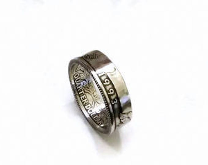 Washington Quarter Coin Ring - 1992-1998