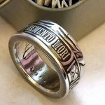 Memento Mori, Last Laugh Coin Ring Made From A Genuine 999 Fine Silver Round