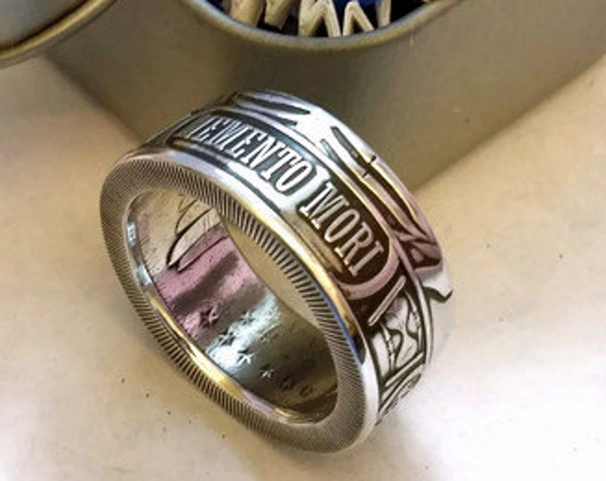 Memento Mori Coin Ring