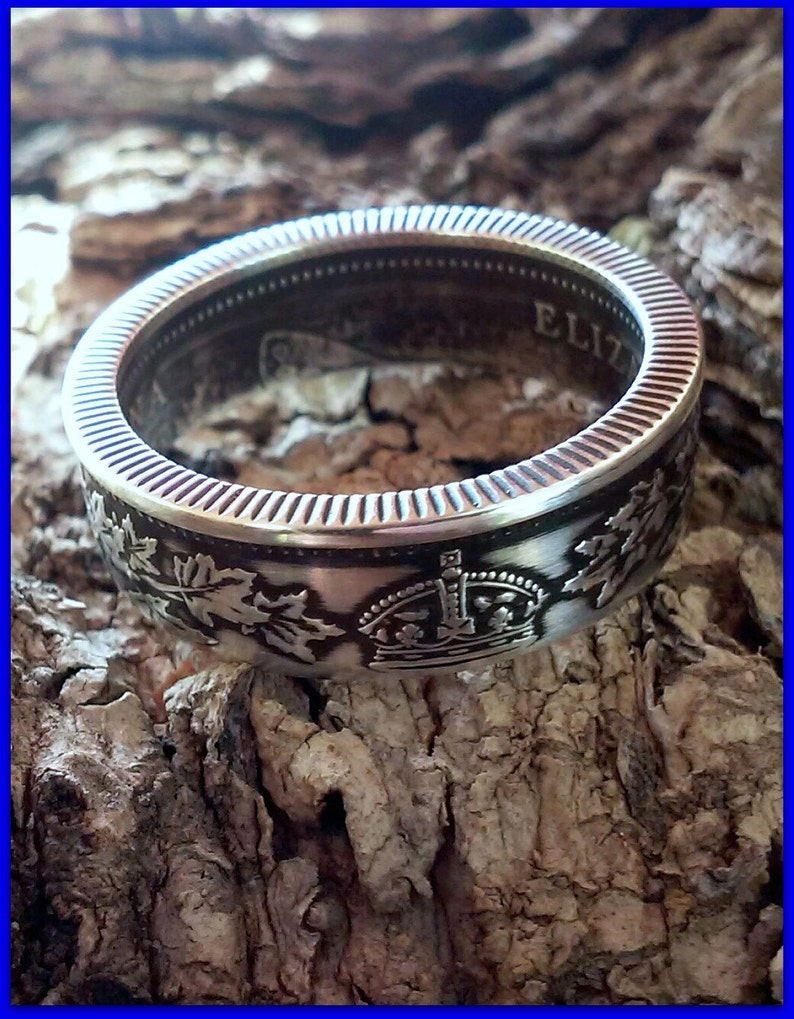 925 Sterling Silver Canada 25 Cent Coin Ring image 0