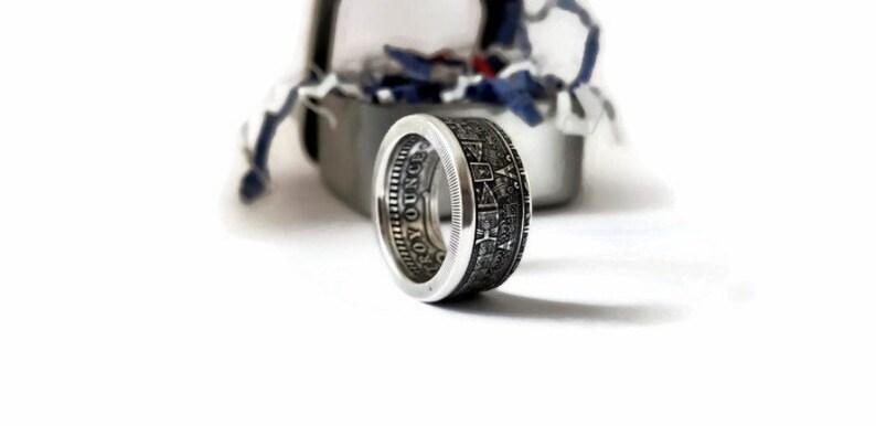 Aztec Calendar Coin Ring image 0