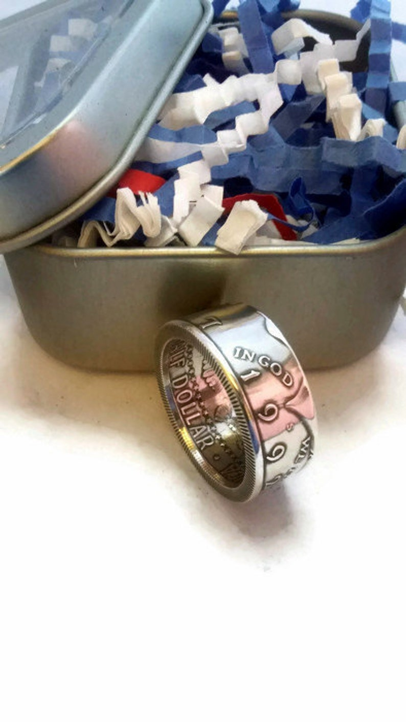 1964 and 1992-2018 90% Silver Kennedy Half Dollar Coin Ring image 0