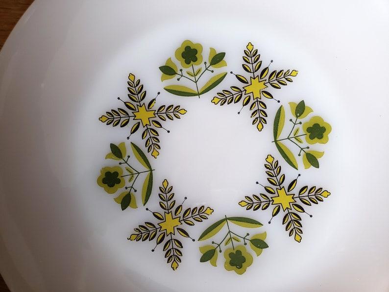 Anchor Hocking Milk Glass Green Meadow Dinner Plate
