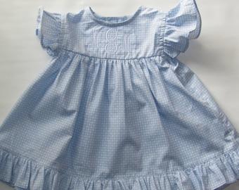 Spring Dress, Spring Dress Girls, Baby Spring Dress, Girls Spring Dress, Summer Dress, Baby Dress, Girl Dress, Free Monogram 3M, 12M