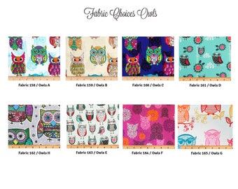 Owl Fabric Choices