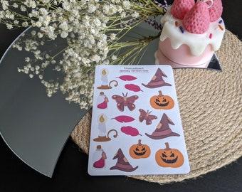 Spooky V2 Sticker Sheet - Planner Stickers - Stationery Sticker Sheet - Halloween Stickers