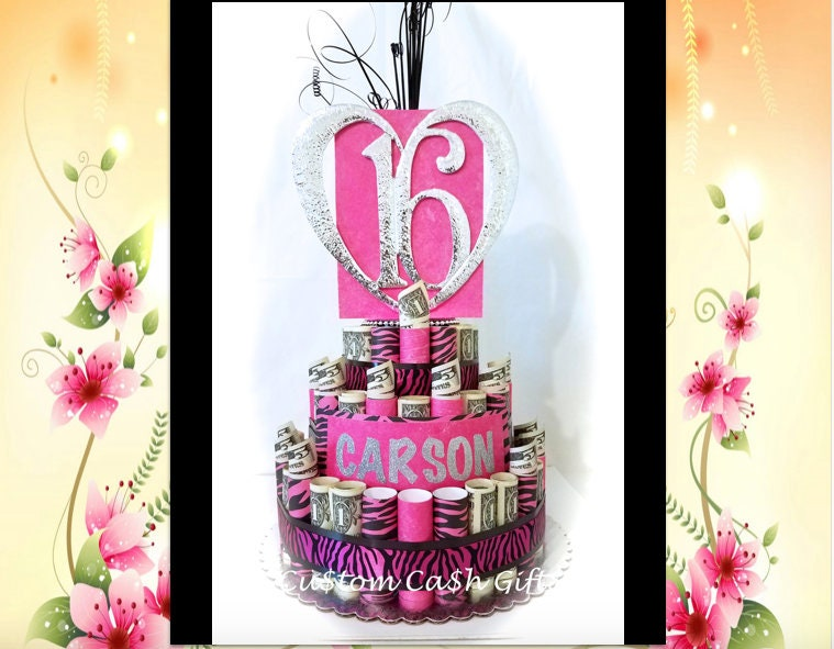 MONEY CAKE Made With Real Money Sweet 16th
