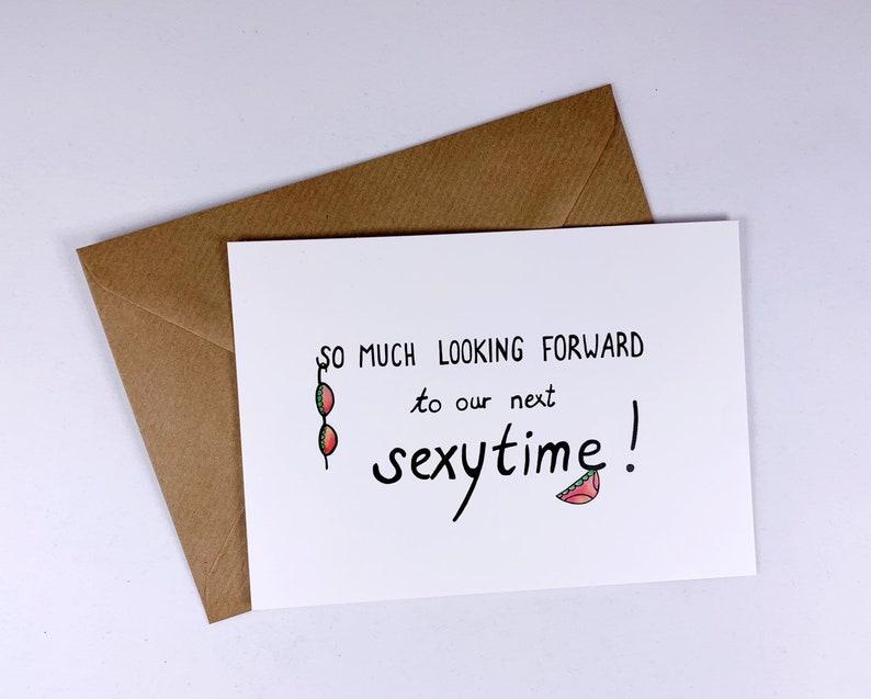 Long distance relationship - boyfriend gift - sexy - kinky- i miss you -  funny love card - girlfriend - husband -naughty - kinky