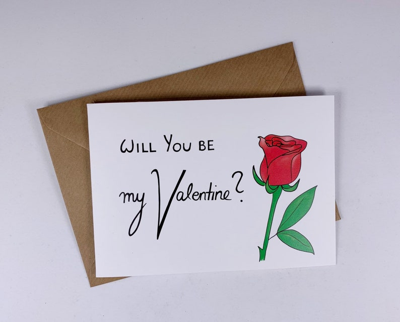Valentines Day - funny love card- boyfriend gift - rose long distance  relationship - anniversary - girlfriend- love- flower - i miss you
