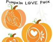 SALE Pumpkin love PACK Halloween SVG ,Dxf, eps, png monogram clip-art pack vector files.