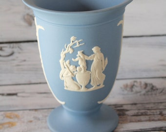 Wedgwood Blue Jasperware Vase