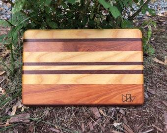 Recycled hardwood cutting board