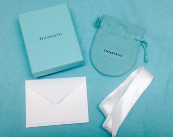 923ce69bbca Authentic Small Tiffany & Co. Blue Box, Ribbon, Storage Pouch and Card Only