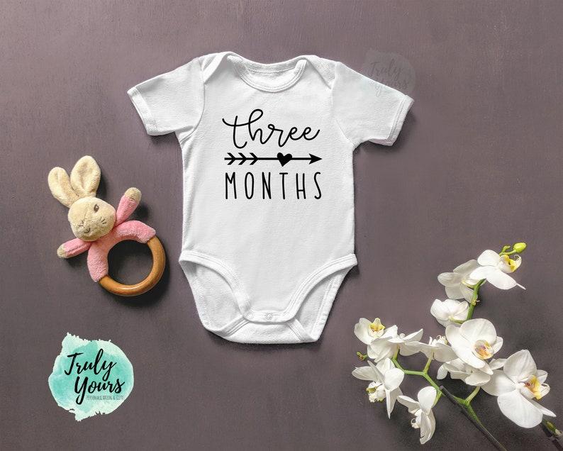 Monthly Onesie Baby Gift New Baby Baby Onesie 1 Month Onesie