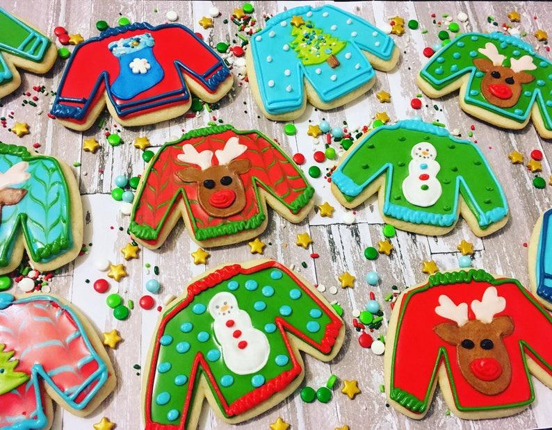 1 Dozen Ugly Sweater Cookies