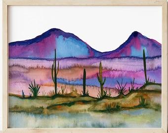Large Desert Print: Landscape Wall Art