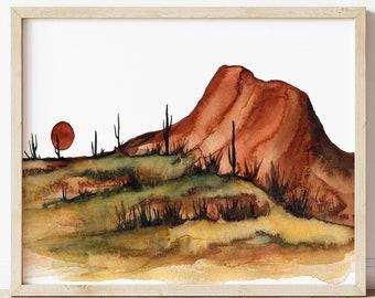 Arizona Desert Watercolor Print