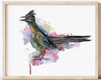 Roadrunner Watercolor Print
