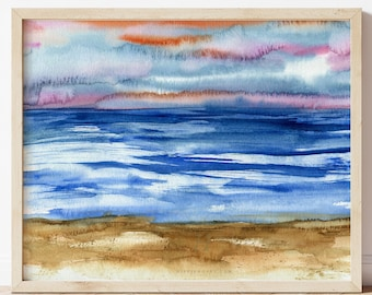 Beach Décor, Beach Art, Beach Wall Art, Coastal Décor, Beach Wall Décor, Beach, Ocean Water Print, Coastal Art