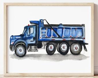 Dump Truck Print, Dumper Truck Wall Art, Construction Print