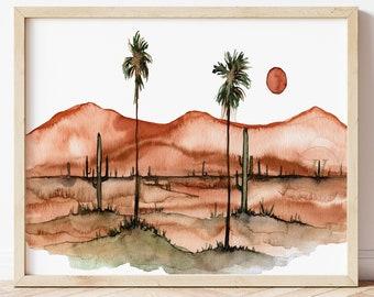 Large Cactus Print: Botanical Wall Art