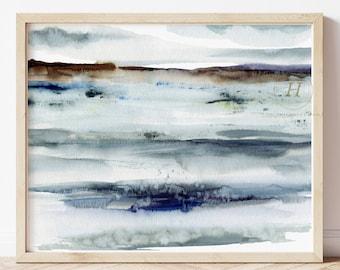Large Beach Décor, Beach Art, Beach Wall Art, Coastal Décor, Beach Wall Décor, Beach, Ocean Water Print, Coastal Art