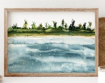 Beach Artwork Watercolor Painting