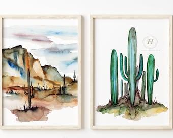 Arizona State Prints Watercolor Set of 2