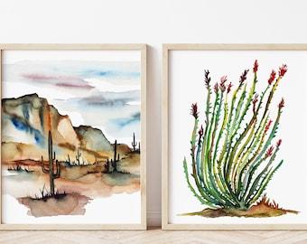 Cactus Prints: Set of 2 Botanical Art
