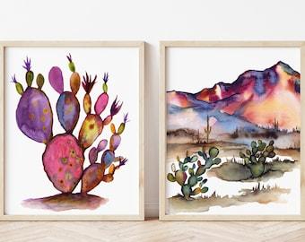 Desert Prints: Watercolor Wall Art