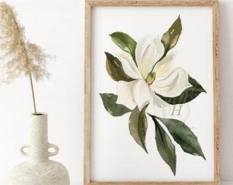 Large Magnolia, Watercolor Print
