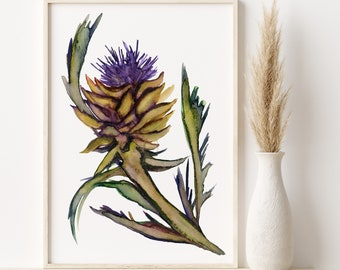 Artichoke Watercolor Print
