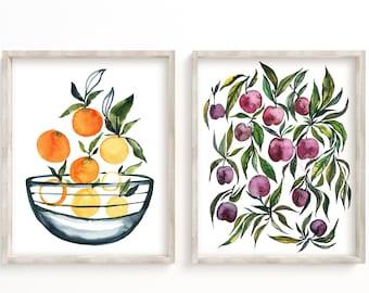Kitchen Fruit Prints Set of 2
