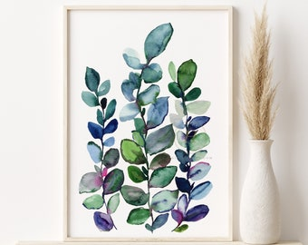 Eucalyptus Print, Eucalyptus Leaves, Botanical Print, Botanical Art Prints, Botanical Wall Art, Botanical Art Print, Eucalyptus Wall Art