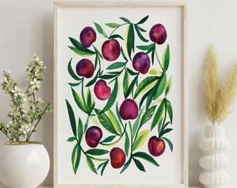 Cherry Watercolor Art Print
