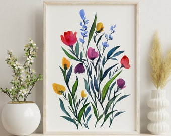 Large Flower Artwork Print