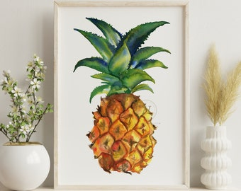 Large Pineapple Fruit Wall Art
