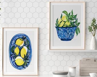 Lemons Watercolor Prints